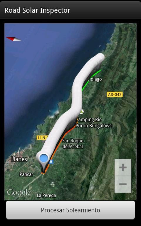 Ejemplo trazado en GPS