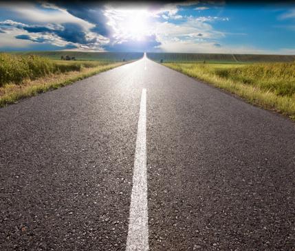 Deslumbramiento por sol en carretera
